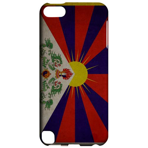 Geeks Designer Line (GDL) Slim Hard Case for Apple iPod Touch 5 - Grunge Tibet