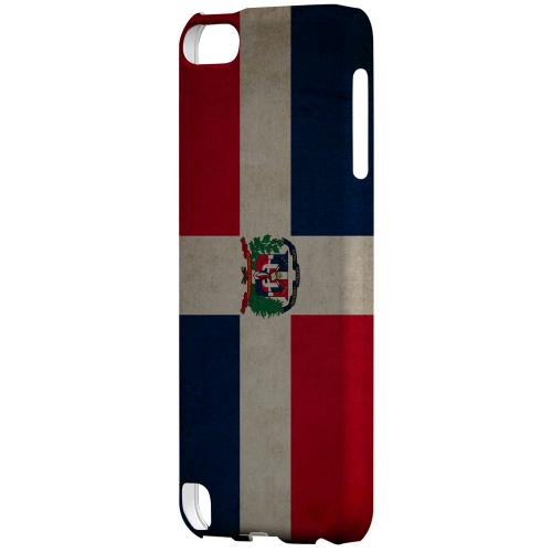 Geeks Designer Line (GDL) Slim Hard Case for Apple iPod Touch 5 - Grunge Dominican Republic