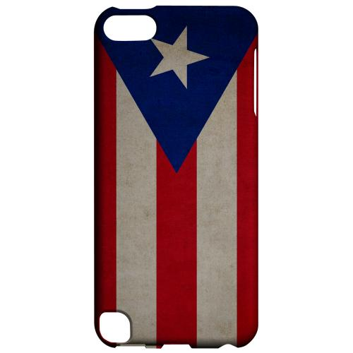 Geeks Designer Line (GDL) Slim Hard Case for Apple iPod Touch 5 - Grunge Puerto Rico