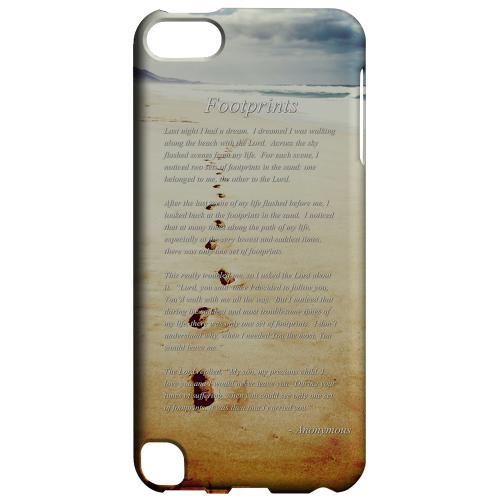 Geeks Designer Line (GDL) Slim Hard Case for Apple iPod Touch 5 - Footprints