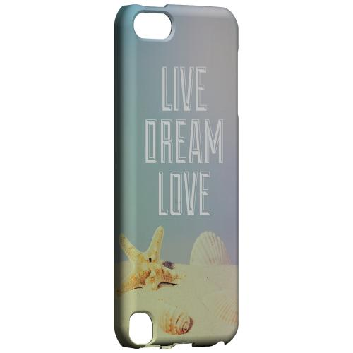 Geeks Designer Line (GDL) Slim Hard Case for Apple iPod Touch 5 - Live Dream Love