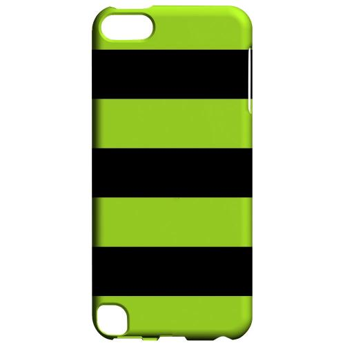 Geeks Designer Line (GDL) Slim Hard Case for Apple iPod Touch 5 - Colorway Black/ Flo Green