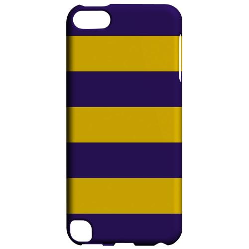 Geeks Designer Line (GDL) Slim Hard Case for Apple iPod Touch 5 - Colorway Purple/ Gold