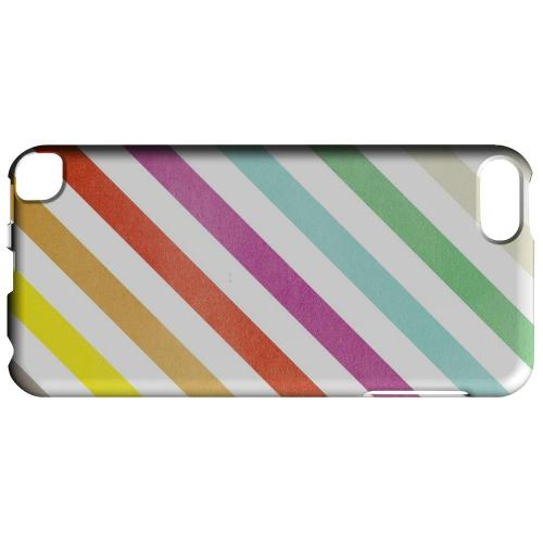 Geeks Designer Line (GDL) Slim Hard Case for Apple iPod Touch 5 - Dirty Diagonal Multi-Color
