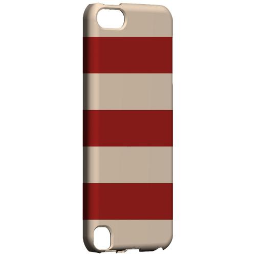 Geeks Designer Line (GDL) Slim Hard Case for Apple iPod Touch 5 - Linen Poppy Red