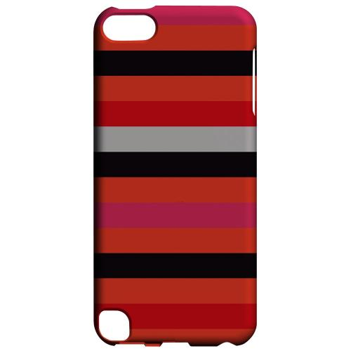 Geeks Designer Line (GDL) Slim Hard Case for Apple iPod Touch 5 - Muted Spade Stripes