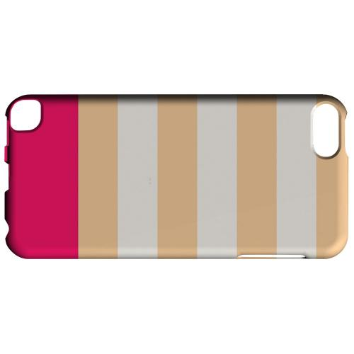 Geeks Designer Line (GDL) Slim Hard Case for Apple iPod Touch 5 - Pink Candy Stripes w/ Pink Bar