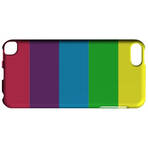 Geeks Designer Line (GDL) Slim Hard Case for Apple iPod Touch 5 - Rainbow Candy Stripes