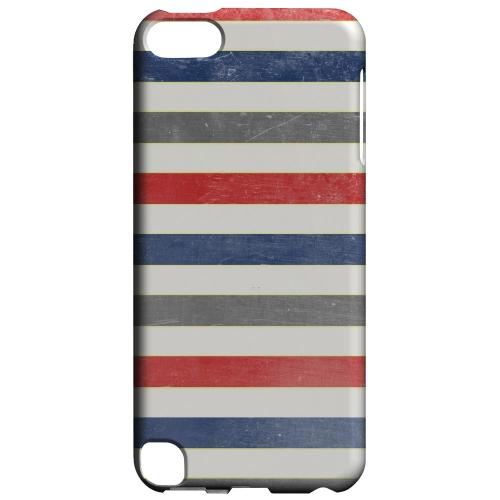 Geeks Designer Line (GDL) Slim Hard Case for Apple iPod Touch 5 - Stripey Blue/ Red