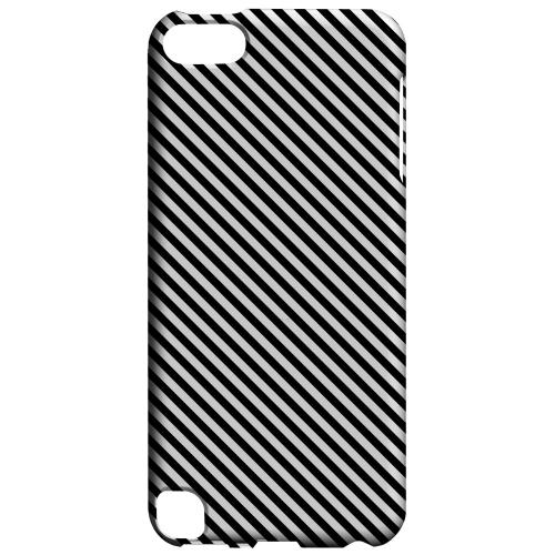 Geeks Designer Line (GDL) Slim Hard Case for Apple iPod Touch 5 - Thin Black/ White Diagonal