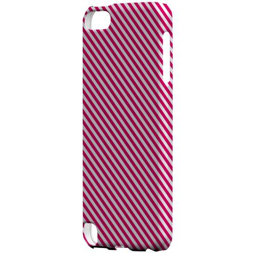 Geeks Designer Line (GDL) Slim Hard Case for Apple iPod Touch 5 - Thin Hot Pink Diagonal