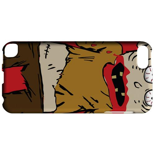Geeks Designer Line (GDL) Slim Hard Case for Apple iPod Touch 5 - Zombie on Red