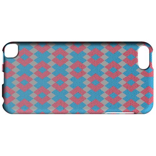 Geeks Designer Line (GDL) Slim Hard Case for Apple iPod Touch 5 - Blue/ Pink Embroidery