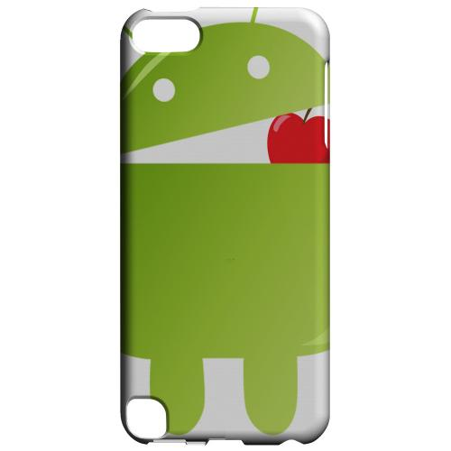 Geeks Designer Line (GDL) Slim Hard Case for Apple iPod Touch 5 - Robot Versus Apple