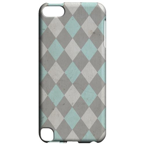 Geeks Designer Line (GDL) Slim Hard Case for Apple iPod Touch 5 - Grunge Pink/ Blue/ Gray Argyle