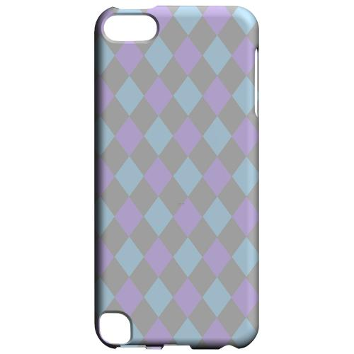 Geeks Designer Line (GDL) Slim Hard Case for Apple iPod Touch 5 - Gray/ Blue/ Purple Argyle