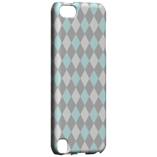Geeks Designer Line (GDL) Slim Hard Case for Apple iPod Touch 5 - Pink/ Blue/ Gray Argyle