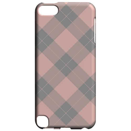 Geeks Designer Line (GDL) Slim Hard Case for Apple iPod Touch 5 - Pink/ Gray Simple Plaid