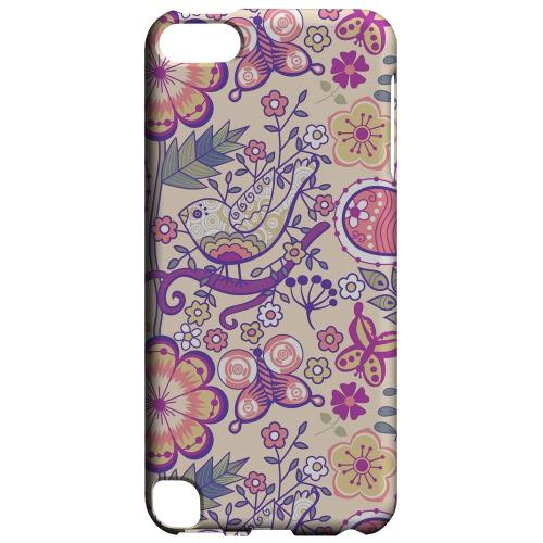 Geeks Designer Line (GDL) Slim Hard Case for Apple iPod Touch 5 - Birds, Hearts & Flowers