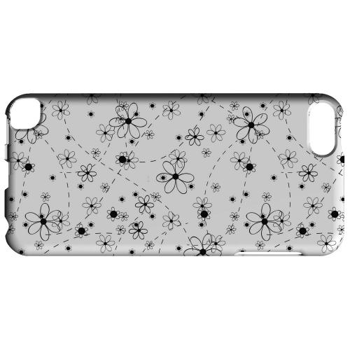 Geeks Designer Line (GDL) Slim Hard Case for Apple iPod Touch 5 - Black/ White Floral