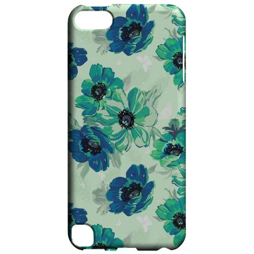 Geeks Designer Line (GDL) Slim Hard Case for Apple iPod Touch 5 - Blue/ Green Floral