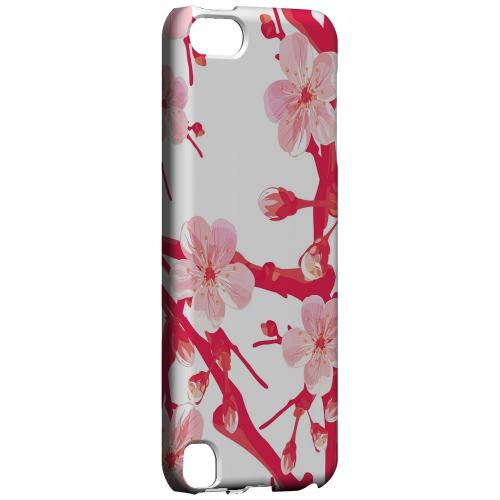Geeks Designer Line (GDL) Slim Hard Case for Apple iPod Touch 5 - Hot Pink Cherry Blossom
