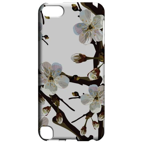 Geeks Designer Line (GDL) Slim Hard Case for Apple iPod Touch 5 - White Cherry Blossom