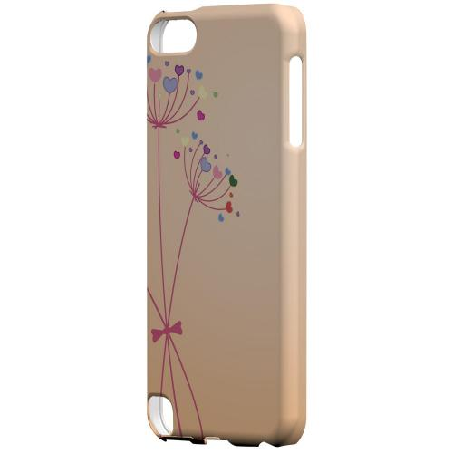Geeks Designer Line (GDL) Slim Hard Case for Apple iPod Touch 5 - Dandelion Hearts