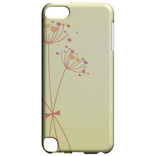 Geeks Designer Line (GDL) Slim Hard Case for Apple iPod Touch 5 - Dandelion Hearts on Yellow