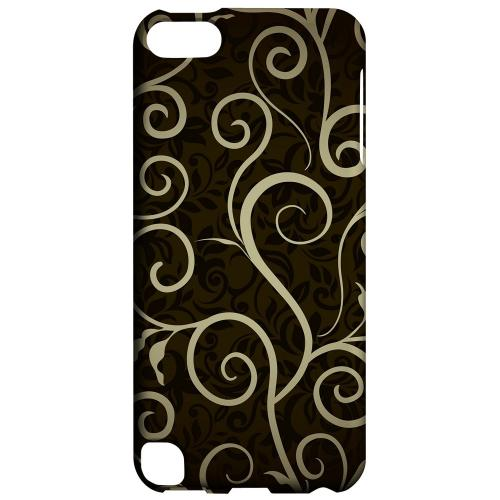 Geeks Designer Line (GDL) Slim Hard Case for Apple iPod Touch 5 - Elegant Dark Vines
