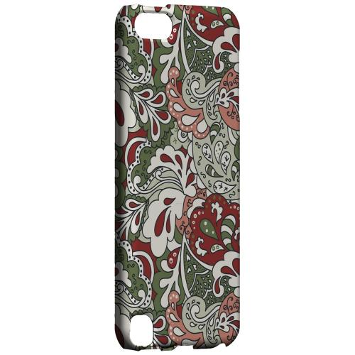 Geeks Designer Line (GDL) Slim Hard Case for Apple iPod Touch 5 - Green/ Red/ Pink Paisley