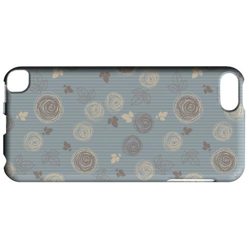 Geeks Designer Line (GDL) Slim Hard Case for Apple iPod Touch 5 - Leaves Scribble Blue/ Brown