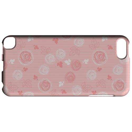 Geeks Designer Line (GDL) Slim Hard Case for Apple iPod Touch 5 - Leaves Scribble Pinkish