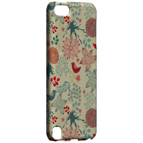 Geeks Designer Line (GDL) Slim Hard Case for Apple iPod Touch 5 - Lovebird Floral Splatter