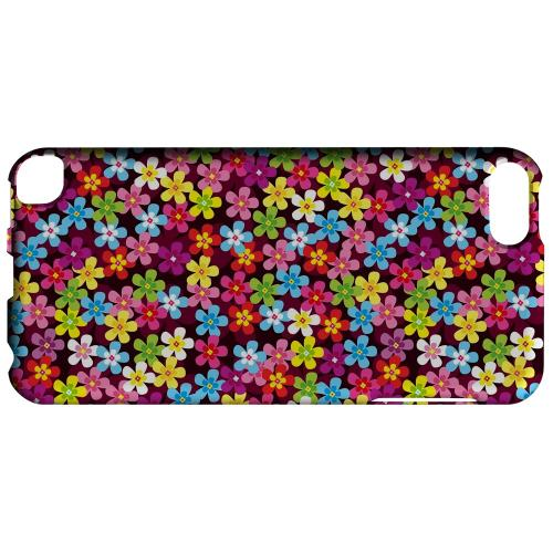 Geeks Designer Line (GDL) Slim Hard Case for Apple iPod Touch 5 - Multi-Colored Flowers