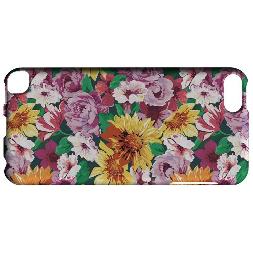 Geeks Designer Line (GDL) Slim Hard Case for Apple iPod Touch 5 - Pink/ Orange Flowers
