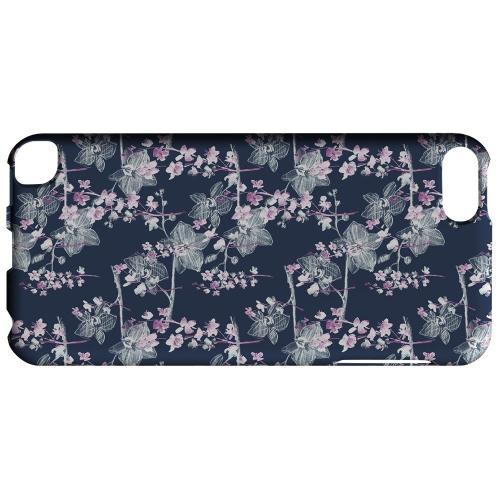 Geeks Designer Line (GDL) Slim Hard Case for Apple iPod Touch 5 - Pink/ White Floral on Blue