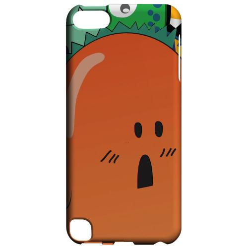 Geeks Designer Line (GDL) Slim Hard Case for Apple iPod Touch 5 - ZORGBLATS Orange Moob Close-Up