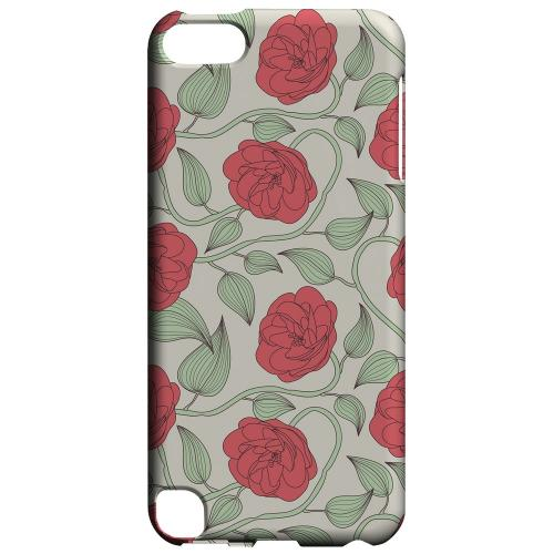 Geeks Designer Line (GDL) Slim Hard Case for Apple iPod Touch 5 - Roses & Vines