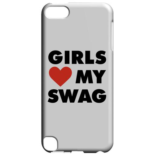Geeks Designer Line (GDL) Slim Hard Case for Apple iPod Touch 5 - Girls Love My Swag