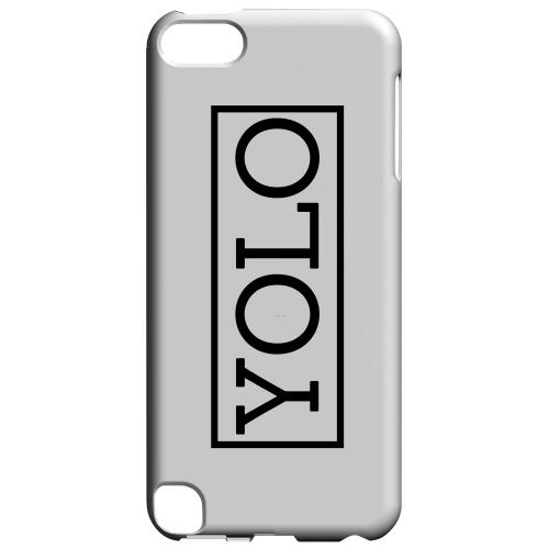 Geeks Designer Line (GDL) Slim Hard Case for Apple iPod Touch 5 - Black/ White YOLO