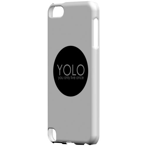 Geeks Designer Line (GDL) Slim Hard Case for Apple iPod Touch 5 - YOLO Circle
