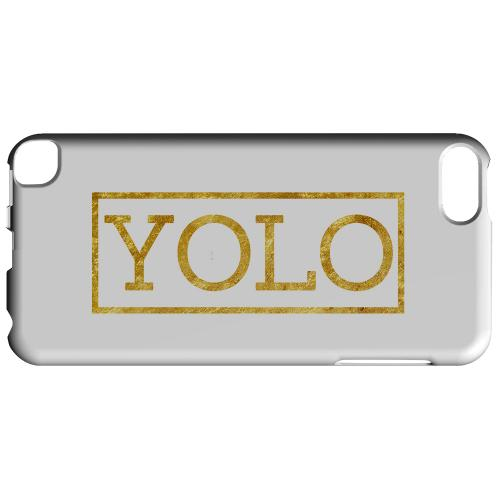 Geeks Designer Line (GDL) Slim Hard Case for Apple iPod Touch 5 - Gold YOLO