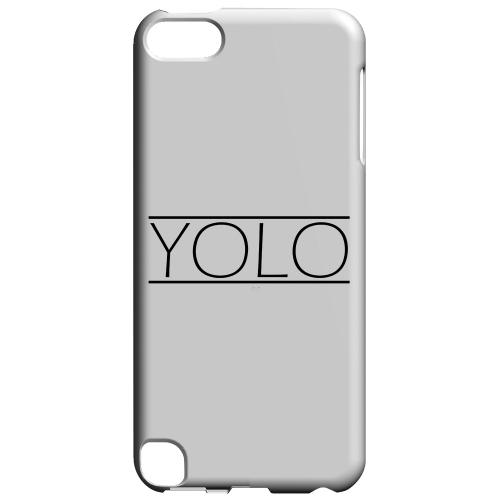 Geeks Designer Line (GDL) Slim Hard Case for Apple iPod Touch 5 - Modern YOLO