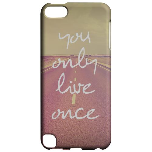Geeks Designer Line (GDL) Slim Hard Case for Apple iPod Touch 5 - Open Road YOLO