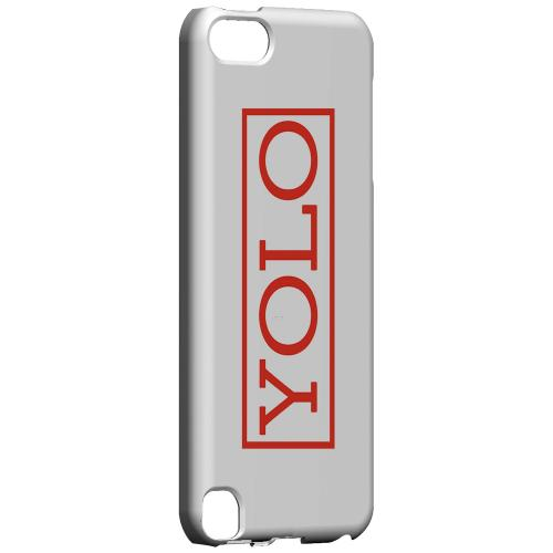 Geeks Designer Line (GDL) Slim Hard Case for Apple iPod Touch 5 - Red YOLO