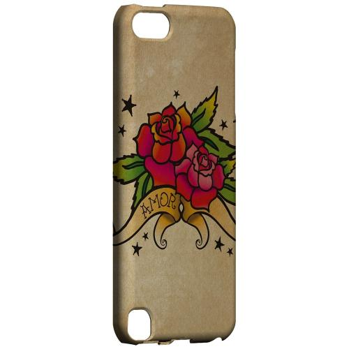 Geeks Designer Line (GDL) Slim Hard Case for Apple iPod Touch 5 - Armor Rose Grunge