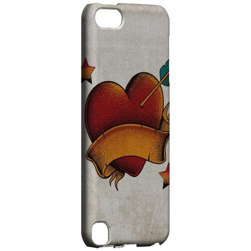 Geeks Designer Line (GDL) Slim Hard Case for Apple iPod Touch 5 - Arrow In The Heart