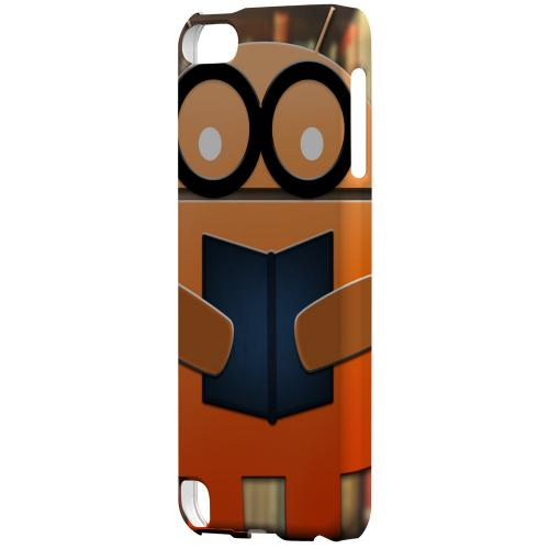 Geeks Designer Line (GDL) Slim Hard Case for Apple iPod Touch 5 - Studious Orange Robot