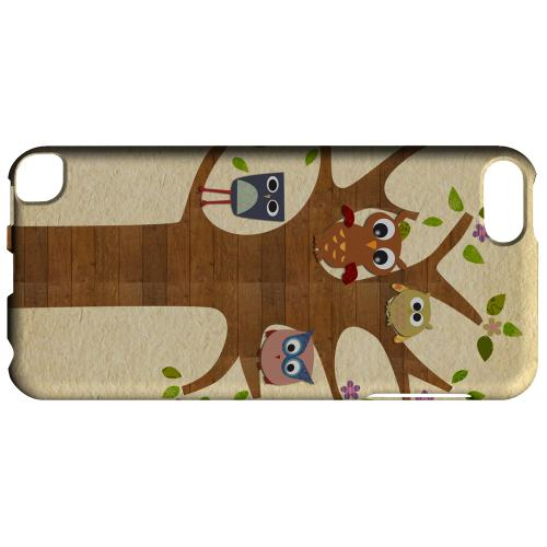 Owls on Brown Tree - Geeks Designer Line Owl Series Glossy Case for Apple iPod Touch 5